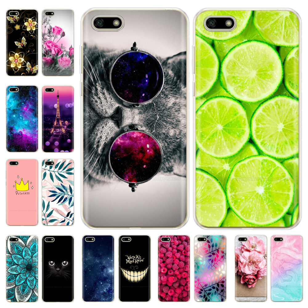 For Huawei Y5 2018 Case For Huawei Y5 Lite 2018 / Y5 Prime 2018 Case Soft Silicone Cover Cute TPU Fundas Coque For Y 5 2018
