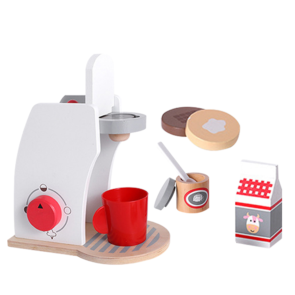 8pcs/Set Coffee Machine Toy Household Appliances Pretend Play Kitchen Children Toys Toaster Blender Vacuum Cleaner Cooker Toys