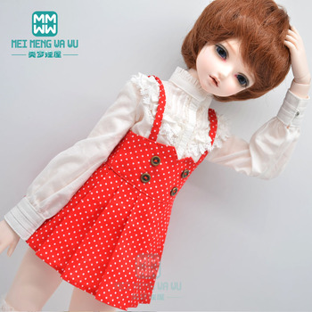 Clothes for doll fits 1/4 43cm BJD doll clothes fashion Shirts, suspenders, long-leg socks, leather shoes image