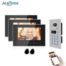 Видеодомофон jeatone без косточек wi fi проводной домофон для