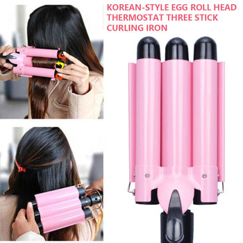 Professional Hair Curling Iron Ceramic Triple Barrel Hair Curler Irons Hair Wave Waver Styling Tools Hair Styler Wand professional hair curler crimper ceramic corrugated curler curling iron hair styler electric corrugation wave styling tools