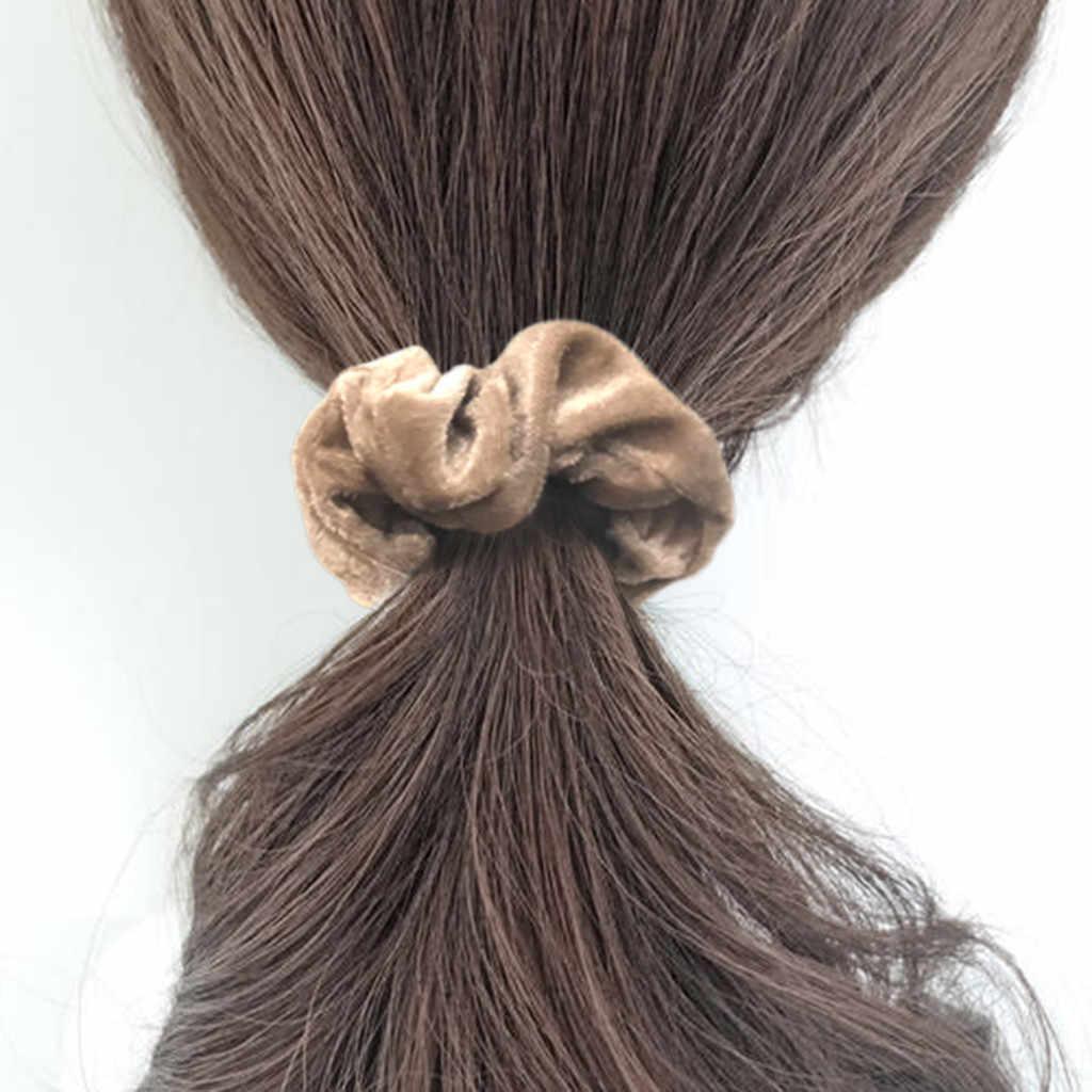 9/15 /20 pçs de veludo elástico faixas de cabelo scrunchy corda de cabelo para mulheres meninas titular rabo de cavalo inverno bohemian scrunchie acessórios