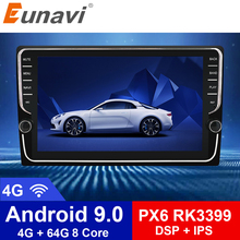Eunavi 9 inch Android 9.0 universal Car Radio Stereo 4G 64G RK3399 2 din android Car DVD Player GPS Navigation WIFI BT Audio