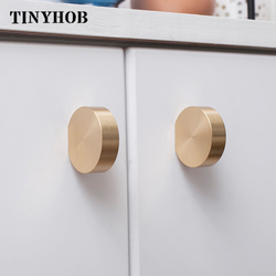 Unikalna solidna mosiężna szafka uchwyt gałki komody złoty mosiądz gałki szuflady uchwyty nowoczesne proste gałki kuchenne gałki|Uchwyty szafek|   -