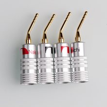 4Pcs Nakamichi Berlapis Emas Colokan Pisang 4Mm Pisang Plug untuk Video Speaker Adaptor Audio Kawat Kabel Konektor(China)