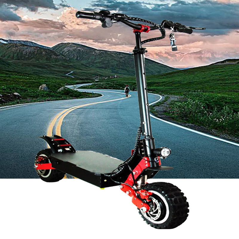Off Road <font><b>Electric</b></font> <font><b>Scooter</b></font> 4000W Motor 11 inch Off Road Tire Max Speed 100Km/h Super Power Crazy Design image