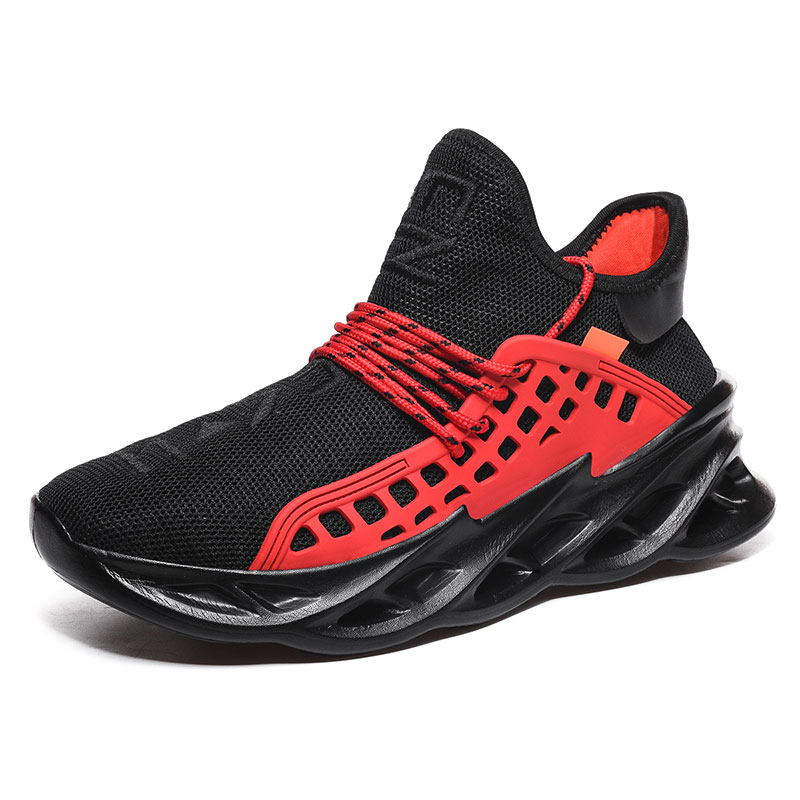 Men shoes 2020 lightweight blade running shoes shockproof lack up breathable male sneakers height increase walking Gym shoes man