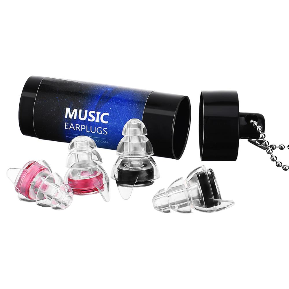 Mpow 2 Pairs SNR 23dB Noise Cancelling Ear Plugs With Carrying Case For Outdoor Concerts Music Festival Motorcycles Club Sports