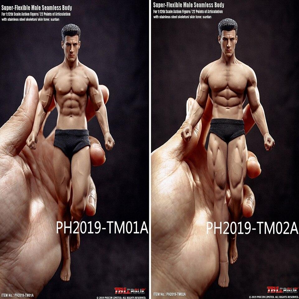 "TBLeague PHICEN 1//12 male Seamless Body TM01A TM02A 6/"" Figure Body Model"
