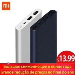 Xiao mi mi banco de potência 2 10000 mah red mi power bank 20000 mah porta usb dupla carga rápida powerbank bateria externa ultra-fina nova
