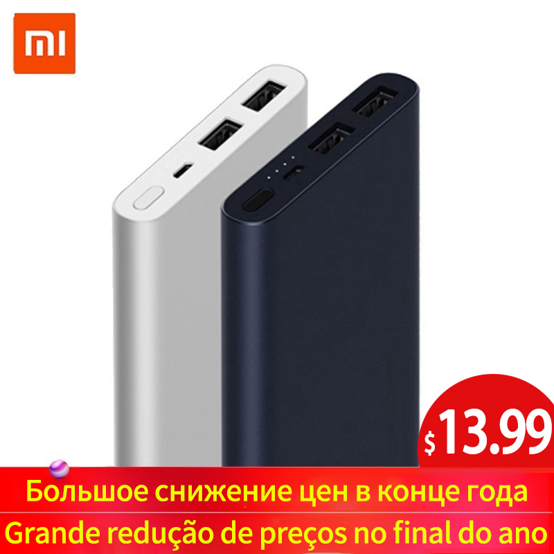 Xiaomi Mi Power Bank 2 10000 MAh Redmi Power Bank 20000mAh Dual USB Port Quick Charge Powerbank Ultra-thin External Battery New