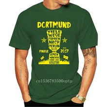 "High quality 2020 summer new Homme Suit Dortmund fan T-shirt ""many ways to Berlin"" Pokalfinale Tee shirt"