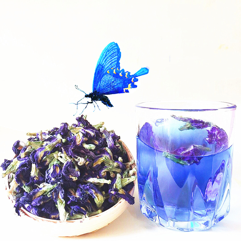 High Quality Clitoria Ternatea Tea.Blue Butterfly Pea Tea.Dried Clitoria Kordofan Pea Flower, Kitchen Toys Thailand.Free Shiping
