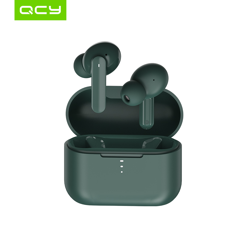 QCY T10 Bluetooth Беспроводные наушники с двумя арматурными наушниками в ухо приложение интеллектуальное управление 4 микрофоном шумоподавление