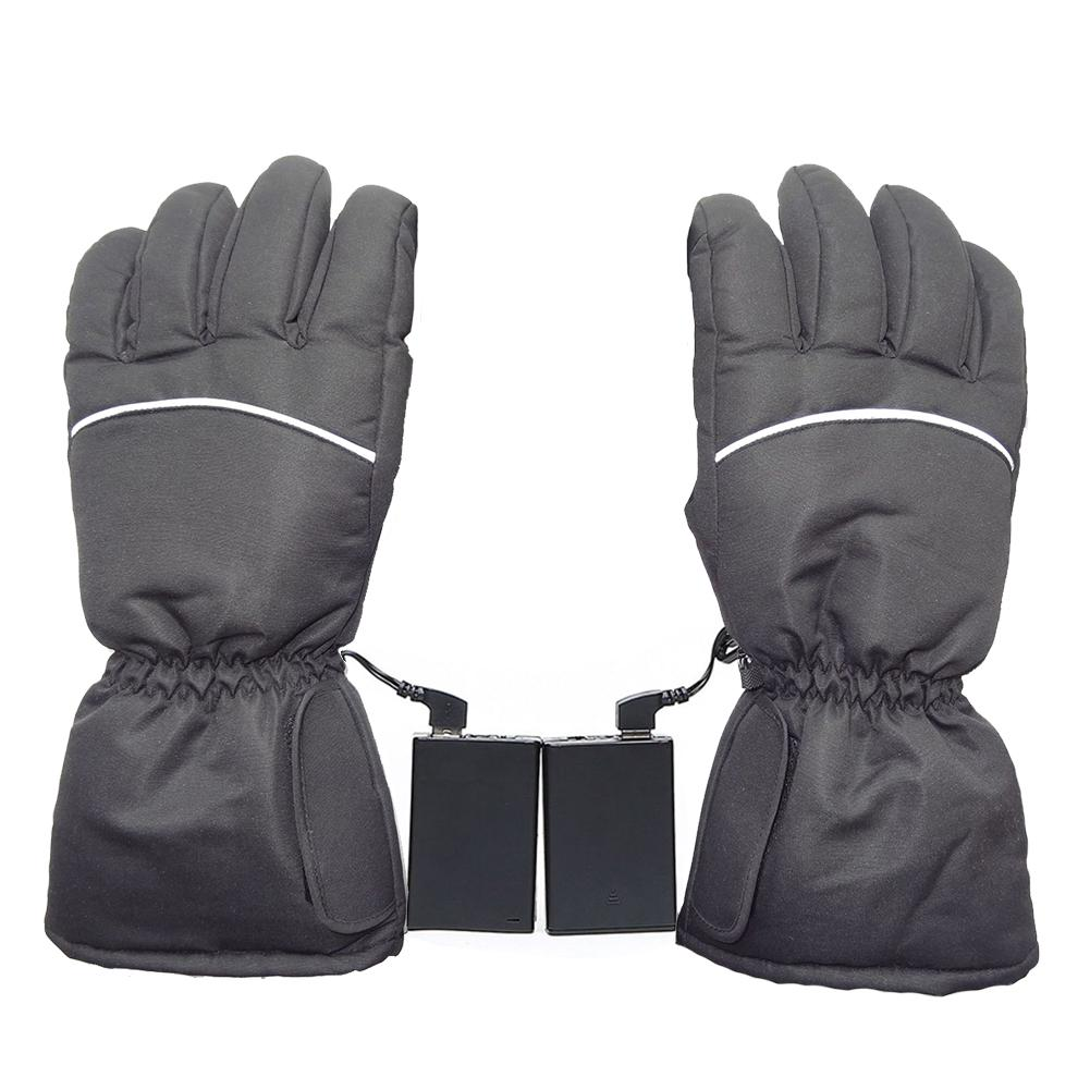 1 Pair Winter Warm Rechargeable USB Electric Battery Heated Gloves For Motorcycle Bike Outdoor Ski Cycling Equipment