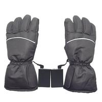 1 Pair Winter Warm Rechargeable USB Electric Battery Heated Gloves For Motorcycle Bike Outdoor Ski Cycling Equipment|Skiing Gloves| |  -
