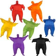 Cavedano Vestito di Sumo Gonfiabile Full Body Costumi Blow Up Uomo Grasso Cosplay Costume di Carnevale Tuta Costume di Halloween per Gli Uomini Adulti