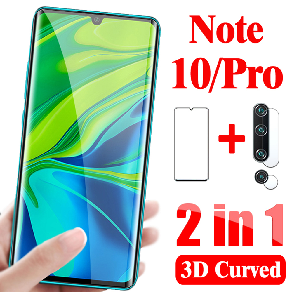 2-in-1 camera glass for xiaomi mi note 10 pro Tempered glass Lens protective glass on xiaomi mi note 10 Pro Screen protector 1