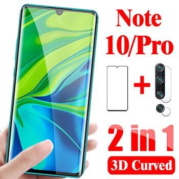 2-in-1 camera glass for xiaomi mi note 10 pro Tempered glass Lens protective glass on xiaomi mi note 10 Pro Screen protector 1