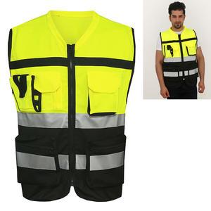 Vest Safety-Clothing High-Reflective Multi-Pocket Zipper