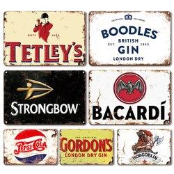 Irish Pub Bar Beer Poster Metal Sign Decorative Plaques Vintage Rum Wine Tin Sign Retro Living Room Kitchen Decoration Plate