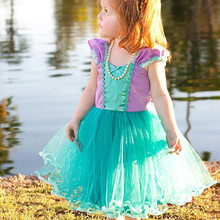 1-5T Little Baby Girl Dress Tutu Prom Gown Party Dresses for Girl Costume Kids Cosplay Birthday Party Outfits