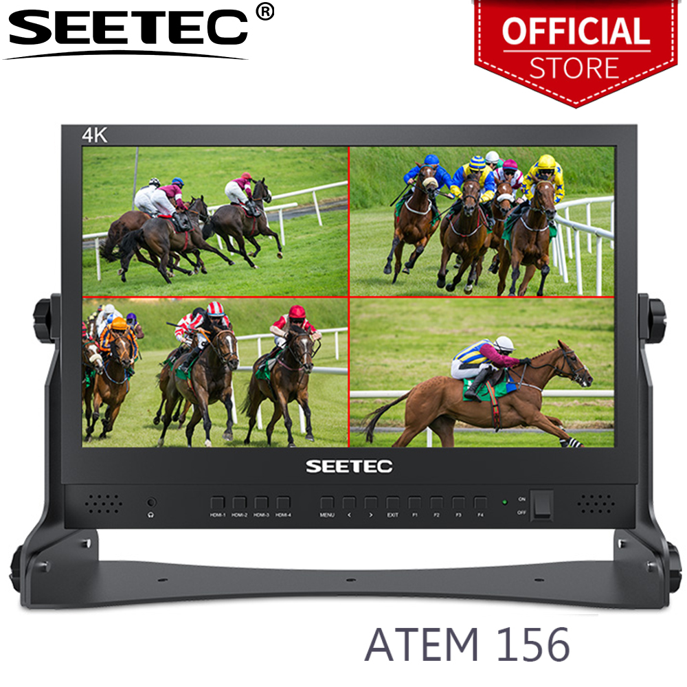 SEETEC ATEM156 15 6 Inch Live Streaming Broadcast Director Monitor with 4 HDMI Input Output Quad Split Display for ATEM Mini