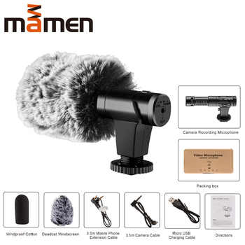 MAMEN MIC-07 Super 3.5mm Microphone VLOG Photography Interview Digital HD Video Recording Microphone for Smartphone and Camera - DISCOUNT ITEM  28% OFF All Category