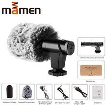 Mamen スーパー 3.5 ミリメートルカメラマイク vlog 写真インタビューデジタル hd ビデオ録画マイクスマートフォンやカメラ