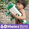 60 Holes Big Electric Bubble gun toy for Children Kids Automatic Gatling Bubble Gun Toys Summer Soap Water Bubble Machine toys