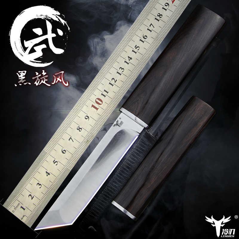 LENGREN D2 staal Japanse spiegel mes, 58 60HRC vacuüm warmtebehandeling sharp camping jachtmes serie (Samurai stijl)