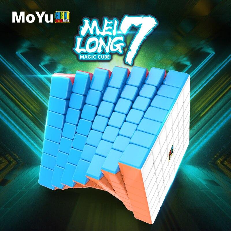 Original MoYu High Quality Meilong7 Mofang Jiaoshi Cube 7x7x7 Magic Cube Layers 7x7 Speed Puzzle Cubes Educational Toys