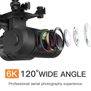 KF102 Drone GPS 6K/8K Gimbal HD Camera WiFi FPV Professional  Optical Flow Positioning Brushless Foldable RC QuadcopterVE58 E520 4