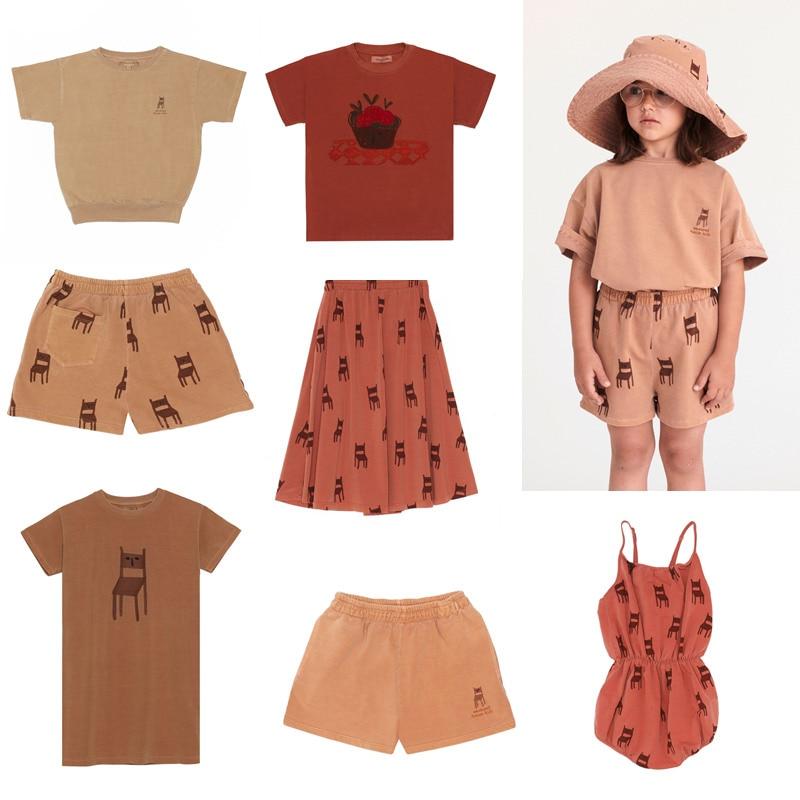 Kids Clothing Set Weekend 2020 Boys T Shirt Shorts Matching Baby Girls Fashion Dresses Cartoon Tops Short Sleeve T-shirts Tees 1