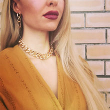 Retro Exaggerated Thick Chain Necklace Double Personality Chain Hip-Hop Neck Chain Choker Necklac Women Jewelry