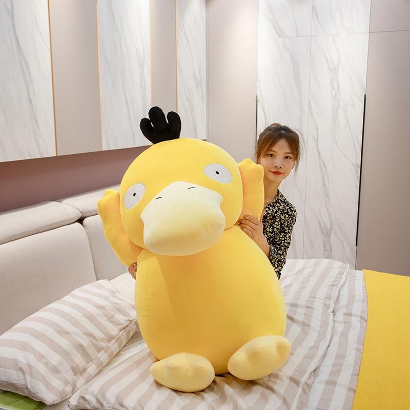 20-80cm Pokemon Psyduck Cartoon Stuffed Plush Toys Anime Figure Pendant Yellow Duck Plush Doll Pillow Toys Girl Christmas Gift 2