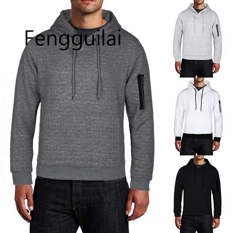 2020 New Autumn Winter Fashion Sweater Men Solid Pullovers Slim Fit Jumpers Men Casual Hooded Sweater Warm Femme Men Clothes