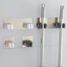 Adesivo multi-purpose ganchos fixado na parede mop organizador titular rackbrush vassoura gancho da cozinha banheiro forte ganchos