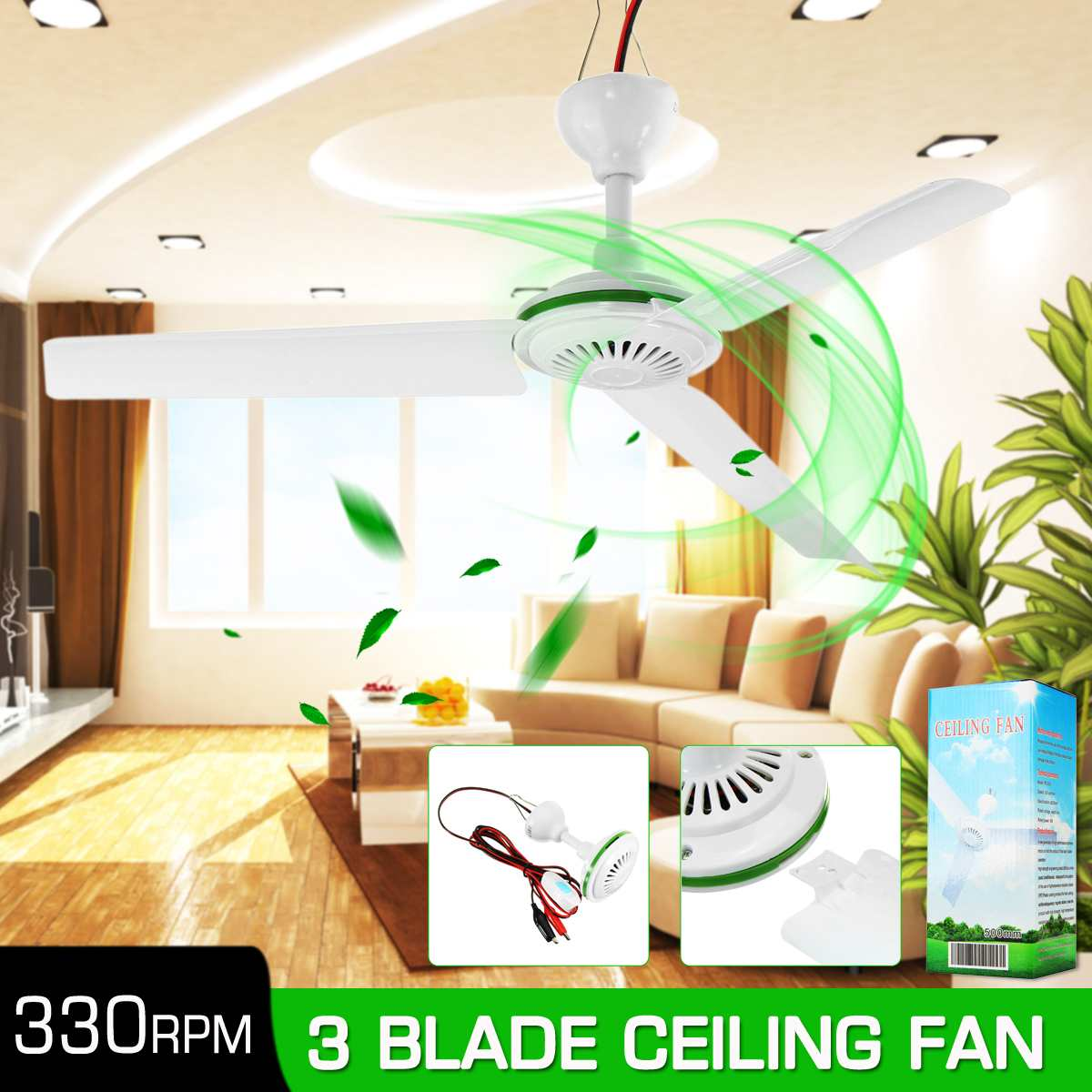 NEW Environmental-friendly 12V 6W Solar Ceiling Fan Solar Powered Cooling Fans Small Air Conditioning Appliances