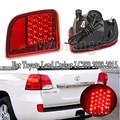 MIZIAUTO LED Stoßstange Hinten Licht Für Toyota Land Cruiser LC200 2008-2015 Hinten Reflektor Nebel Lampe Bremse Warnung Licht auto Teile