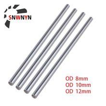 2 Pçs/set Linear Eixo Óptico OD 8mm 10mm 12mm Cilindro Trilho Linear Do Eixo Suave Rodada Comprimento Da Haste 300-600mm Para Peças de Impressora 3D