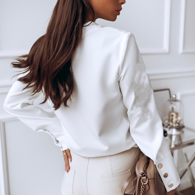 Spring Casual Long Sleeve Blouse  3