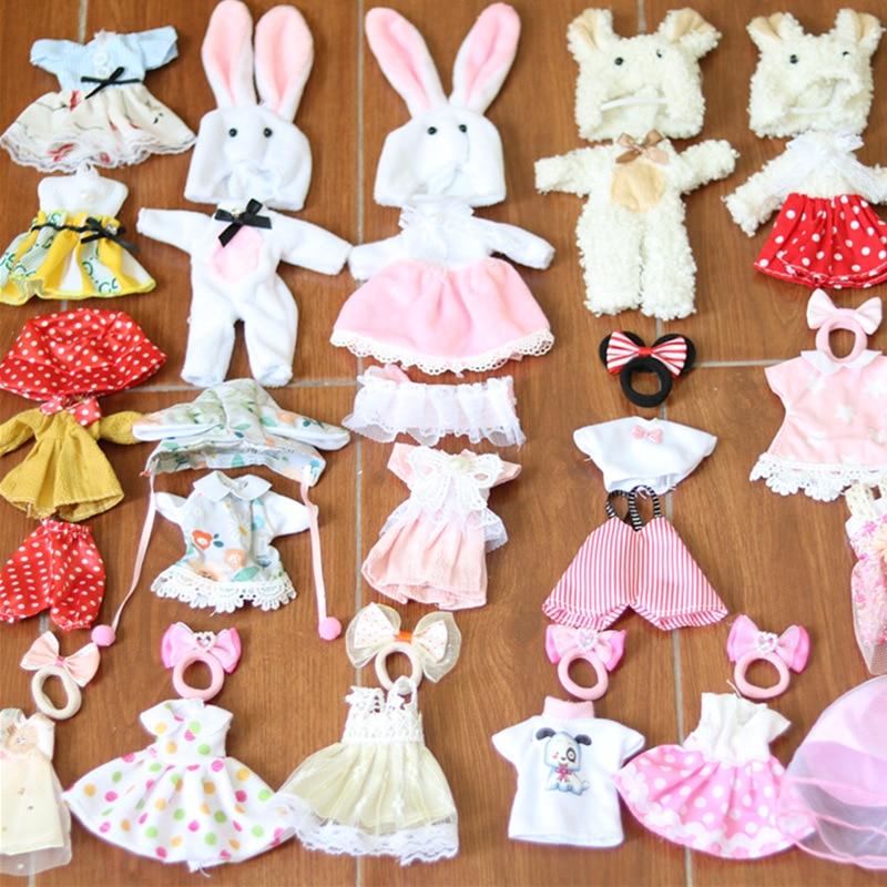 Ropa para muñecas BJD de 16cm, accesorios de moda para vestir, falda con babero, ropa, juego de muñecas, casa, vestir, niña, accesorio de juguete, regalo 1/12|Muñecas| - AliExpress