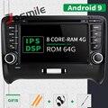 IPS DSP 4GB 64G 2 Din Android 9,0 Auto Radio Multimedia Player Für AUDI TT MK2 8J 2006-2014 GPS Navigation DVD Head unit Stereo
