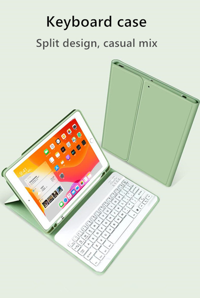 Keyboard-Case Apple with iPad Pencil-Holder Bluetooth Cover 7th-Generation for