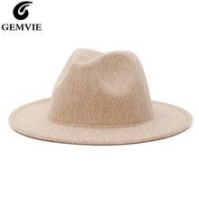 Женская и мужская шляпа gemvie с широкими полями из смесовой