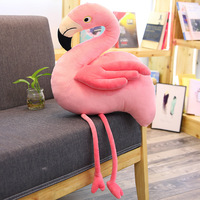 [Funny] Very Cute Soft 110cm Flamingo Plush Toy Simulation pink Bird animal Hold pillow Home Decoration Girl Birthday Gift