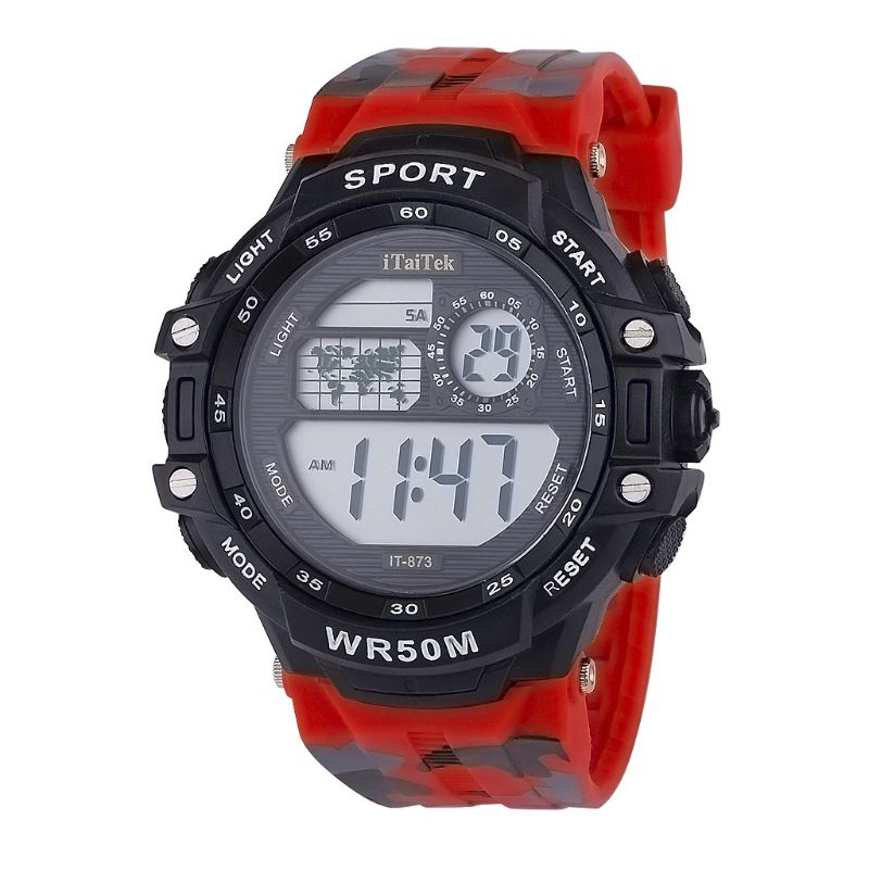 Children Students Multi-function Colorful Camouflage Waterproof Electronic Watch Casual Sports Boys Girls Watches T4MD
