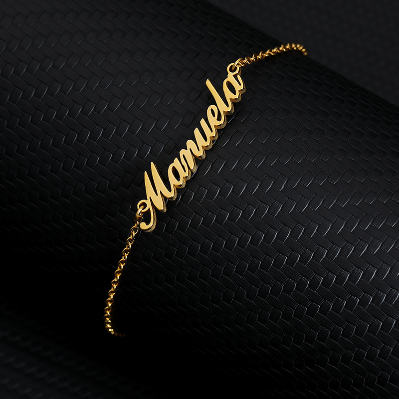 Custom Name Ankle Bracelet Cheville Personalized Stainless Steel Nameplate Anklets for Women Leg Bracelet BFF Accesorios Mujer