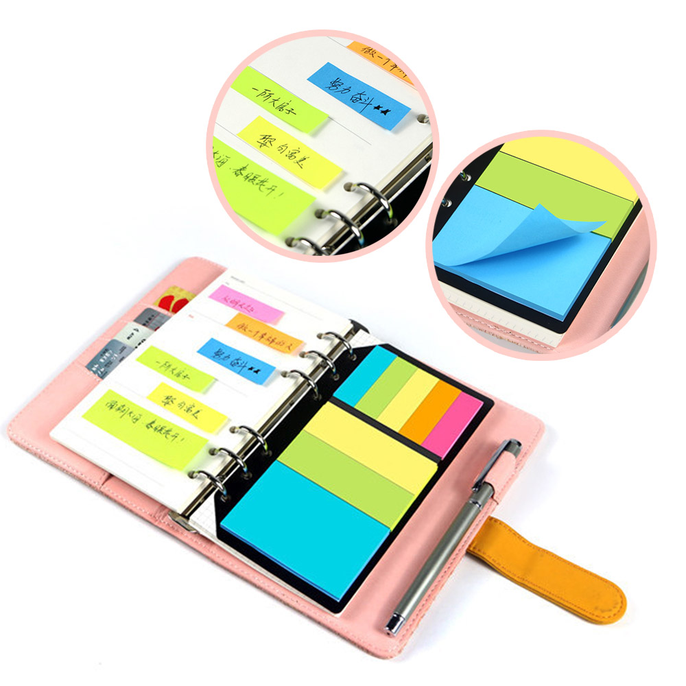 1pc B5 <font><b>A5</b></font> A6 Sticky Notes Planner Schedule <font><b>6</b></font> <font><b>Holes</b></font> <font><b>Binder</b></font> Dairy Memo Divider Sticker for Loose Leaf <font><b>Binder</b></font> Spiral Notebook Gifts image